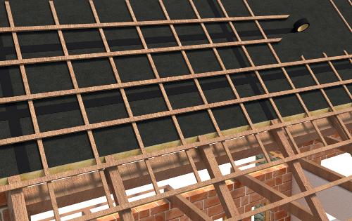 TRAMIFIX NOIR - Liaison de 2 écrans sous-toiture